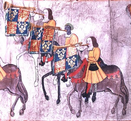 john blanke, a person of color and trumpeter for king henry vIII