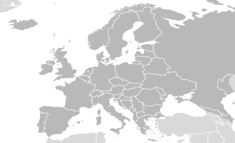 blank map of western europe countries. Europe-v5a.png