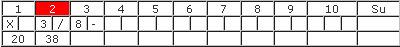Bowling-Spielformular 2