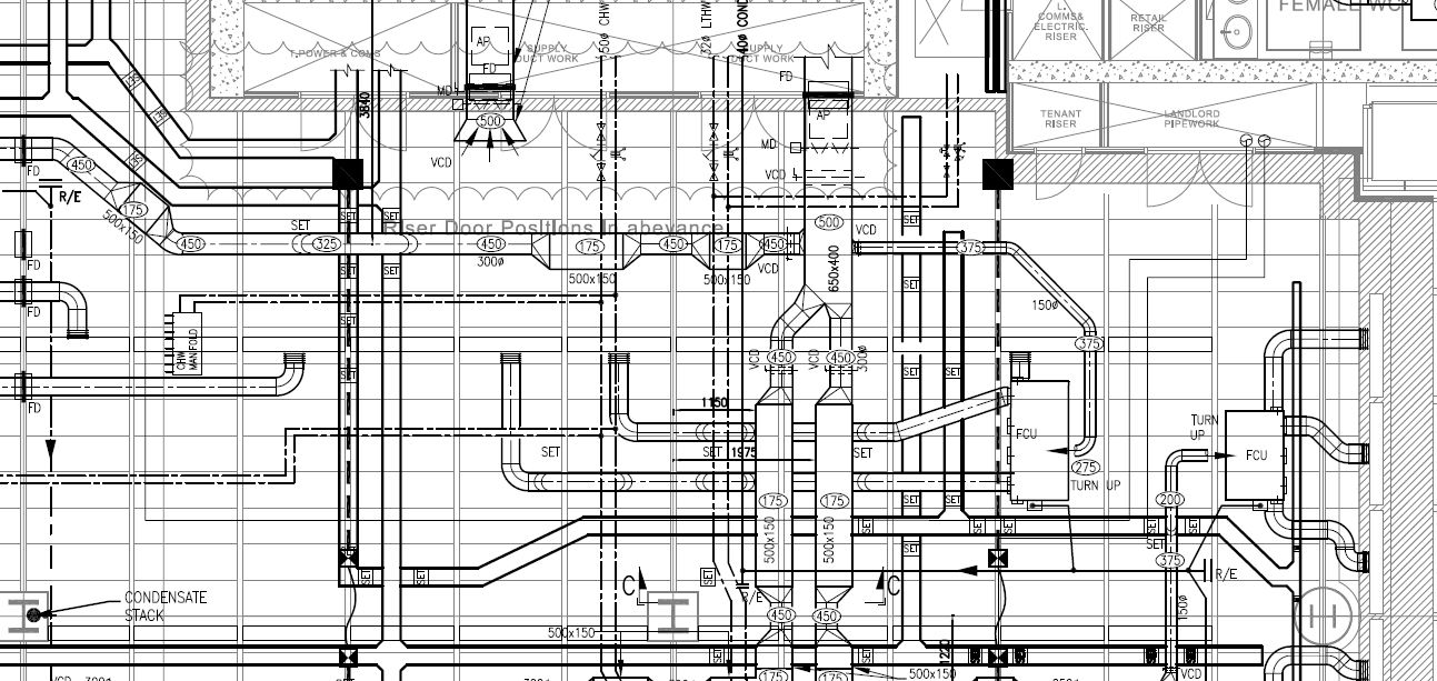 Mechanical systems drawing - Wikipedia | Hvac Drawing Standards |  | Wikipedia