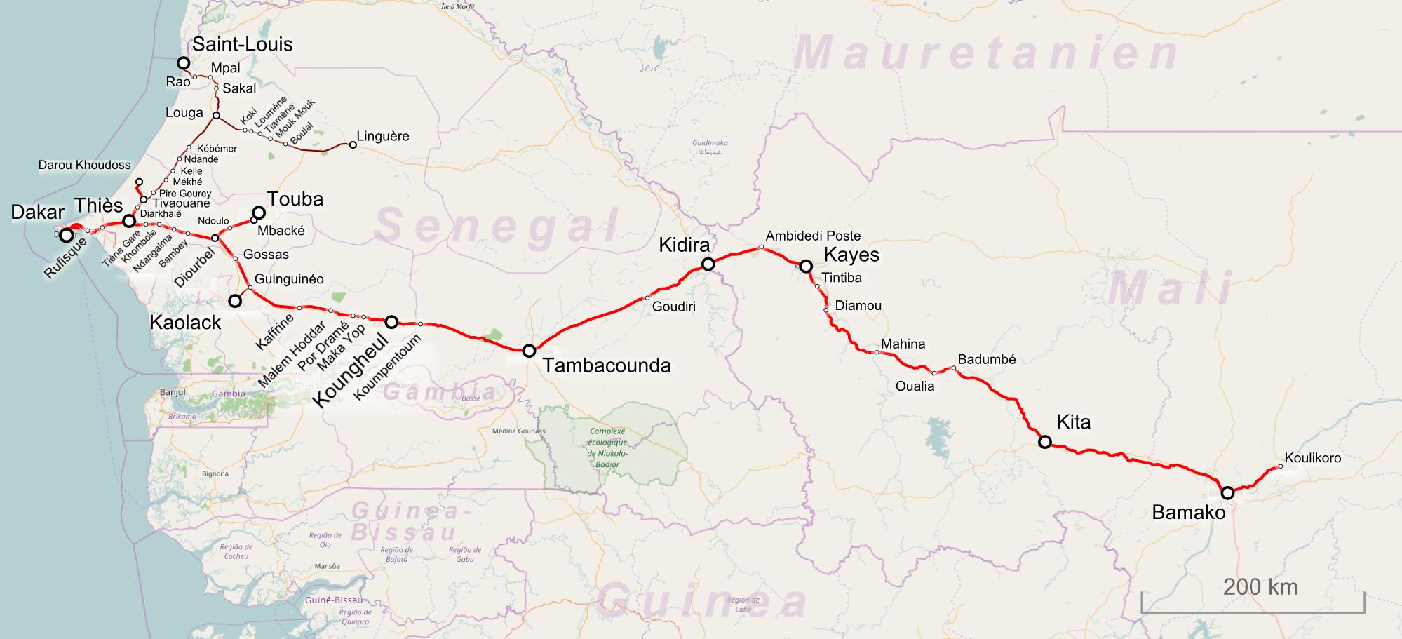 Dakar–Niger Railway - Wikipedia on paris-dakar route map, rally usa map, 2014 dakar rally raid map, rallye de dakar map, dakar world maps, dakar on facebook, dakar africa, dakar map island, songhai tribes map,