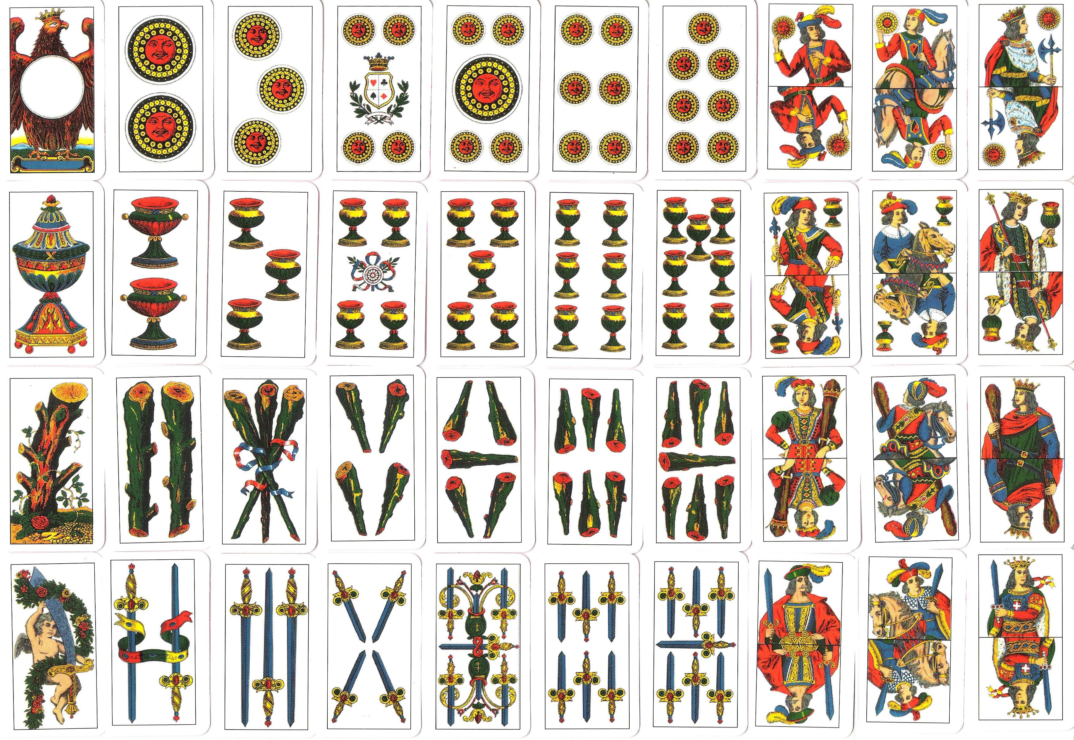 Italian gambling card games