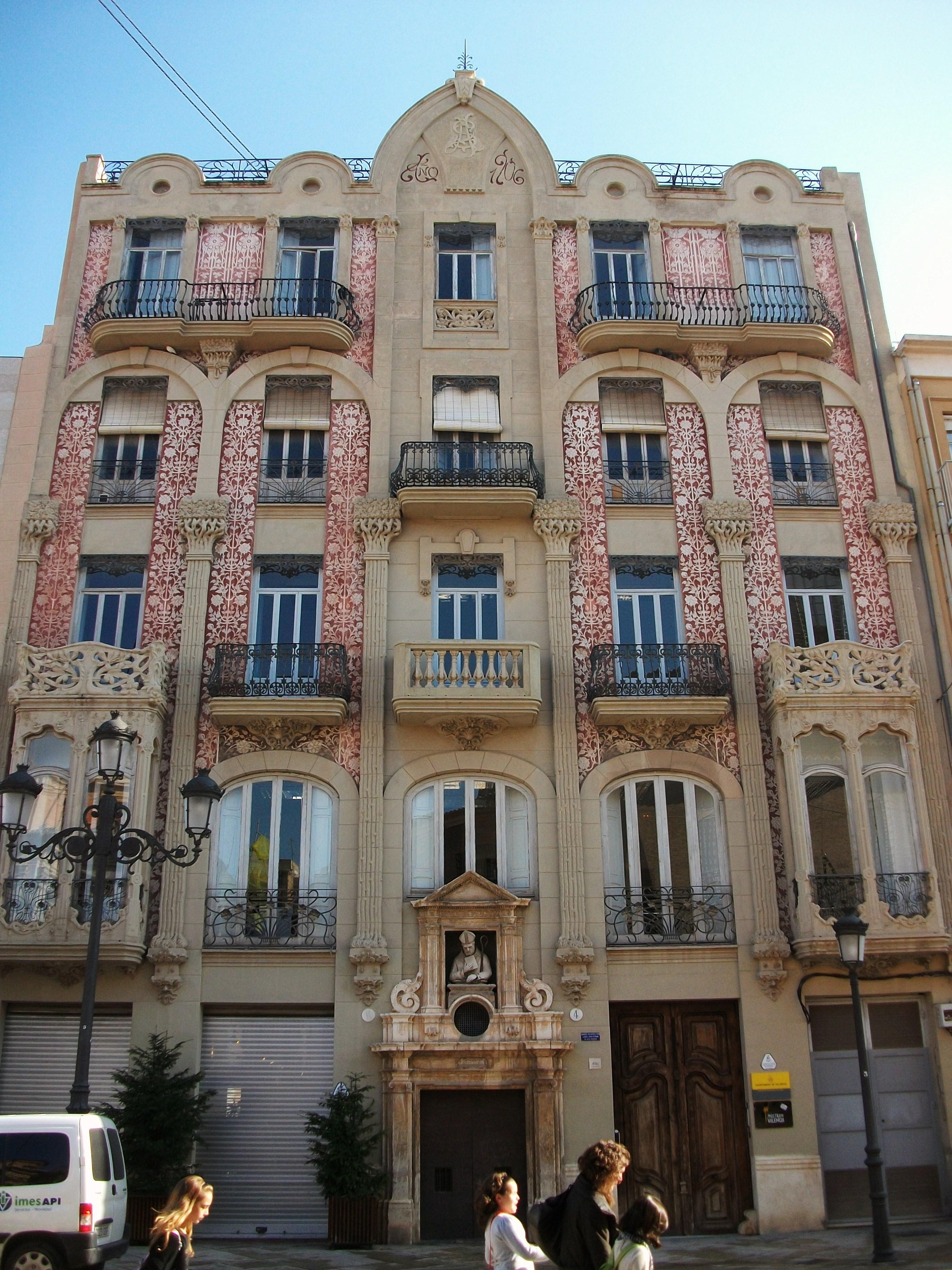 File casa del punt de ganxo de val ncia jpg wikimedia - Casas del mediterraneo valencia ...