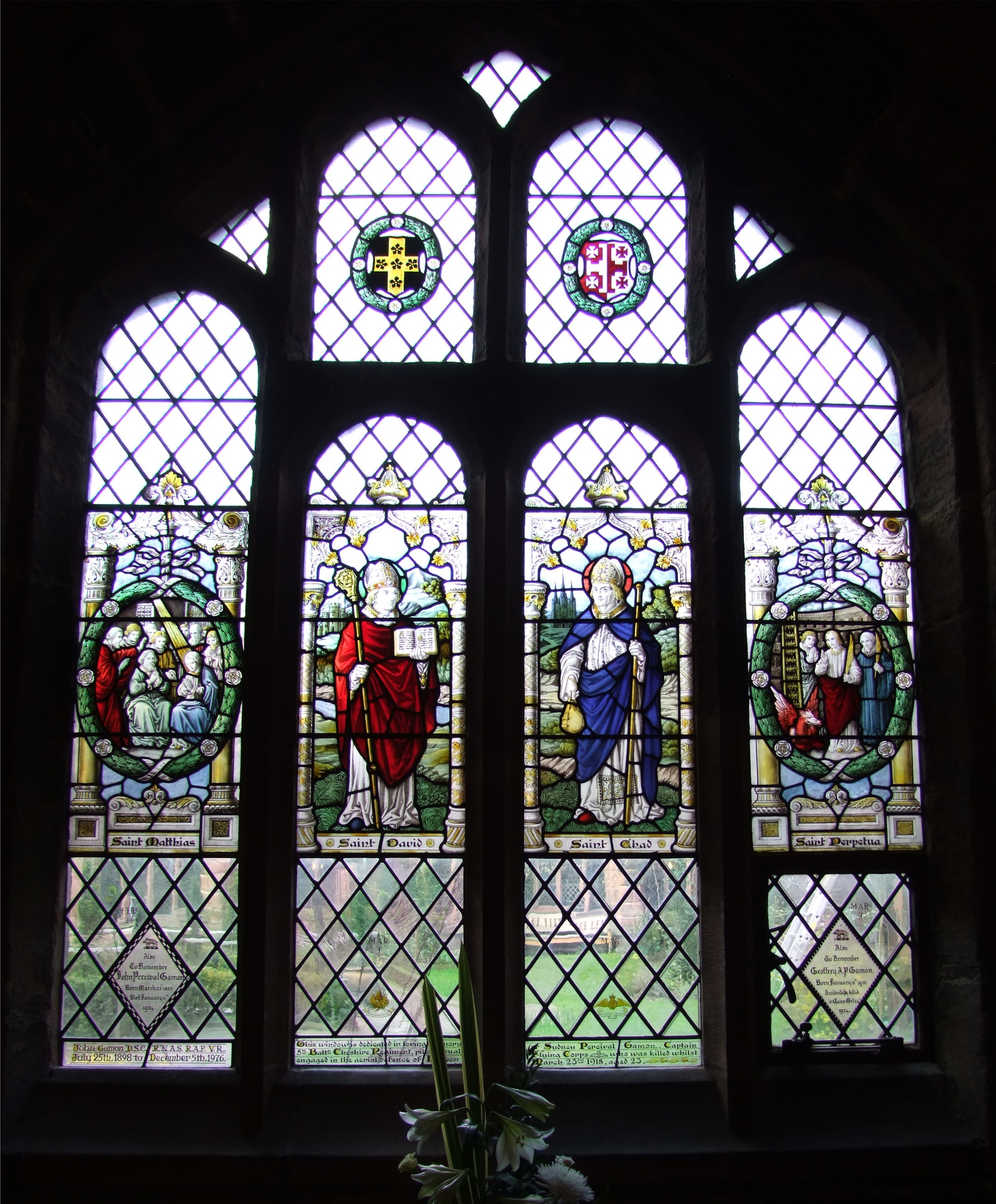 Chester Cathedral Cloisters Stained Glass