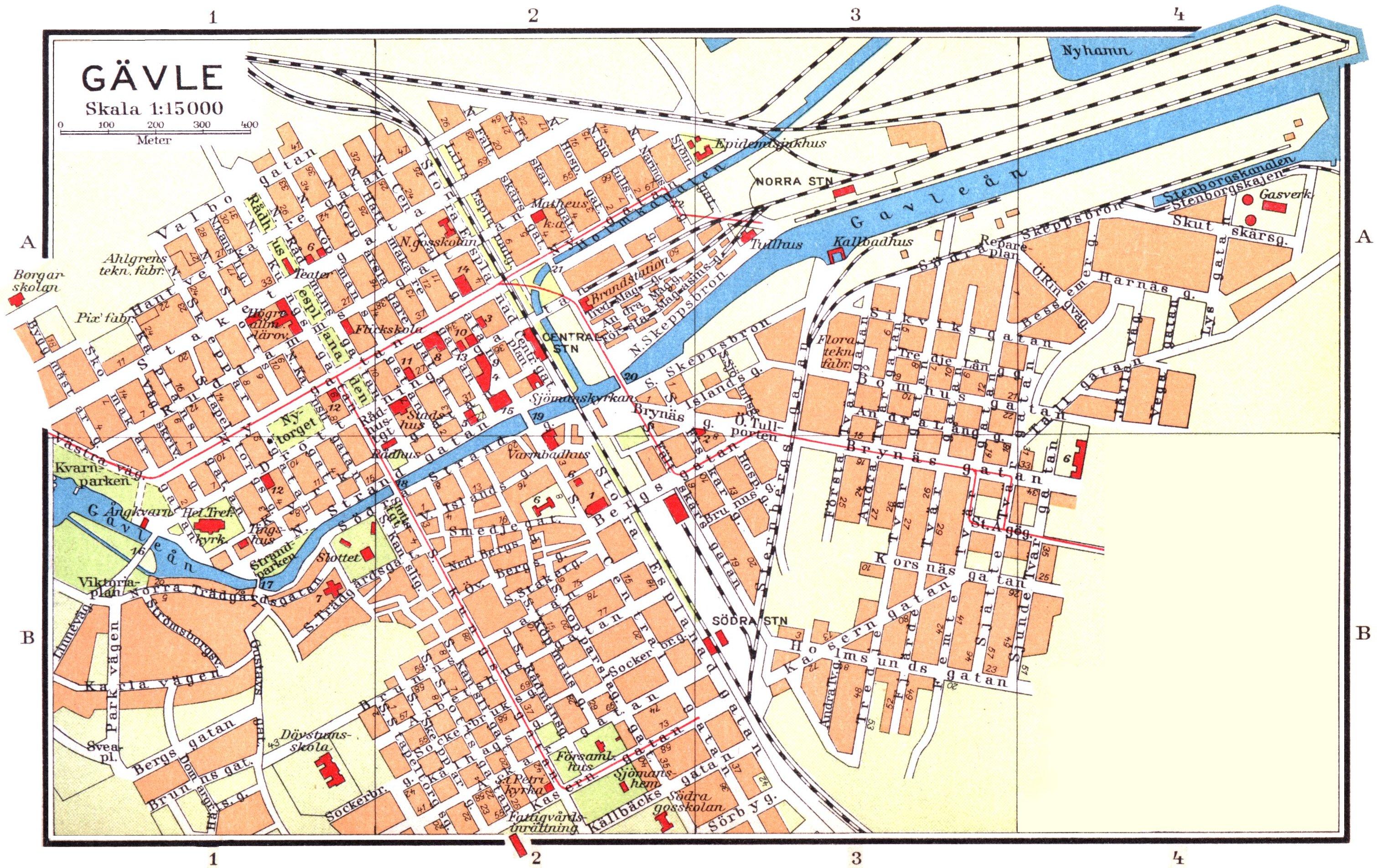 karta gävle Fil:Cohrs Gävle 1928. – Wikipedia karta gävle