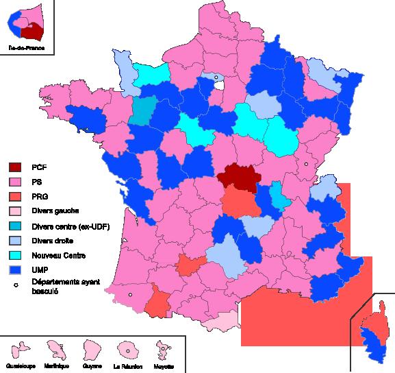 carte des votes en france File:Conseils généraux 2013.png   Wikimedia Commons