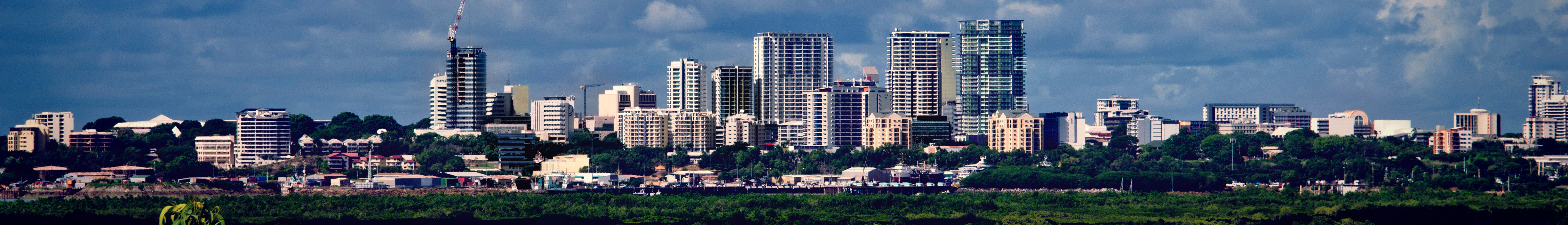 city scape where there are many businesses for sale in Darwin