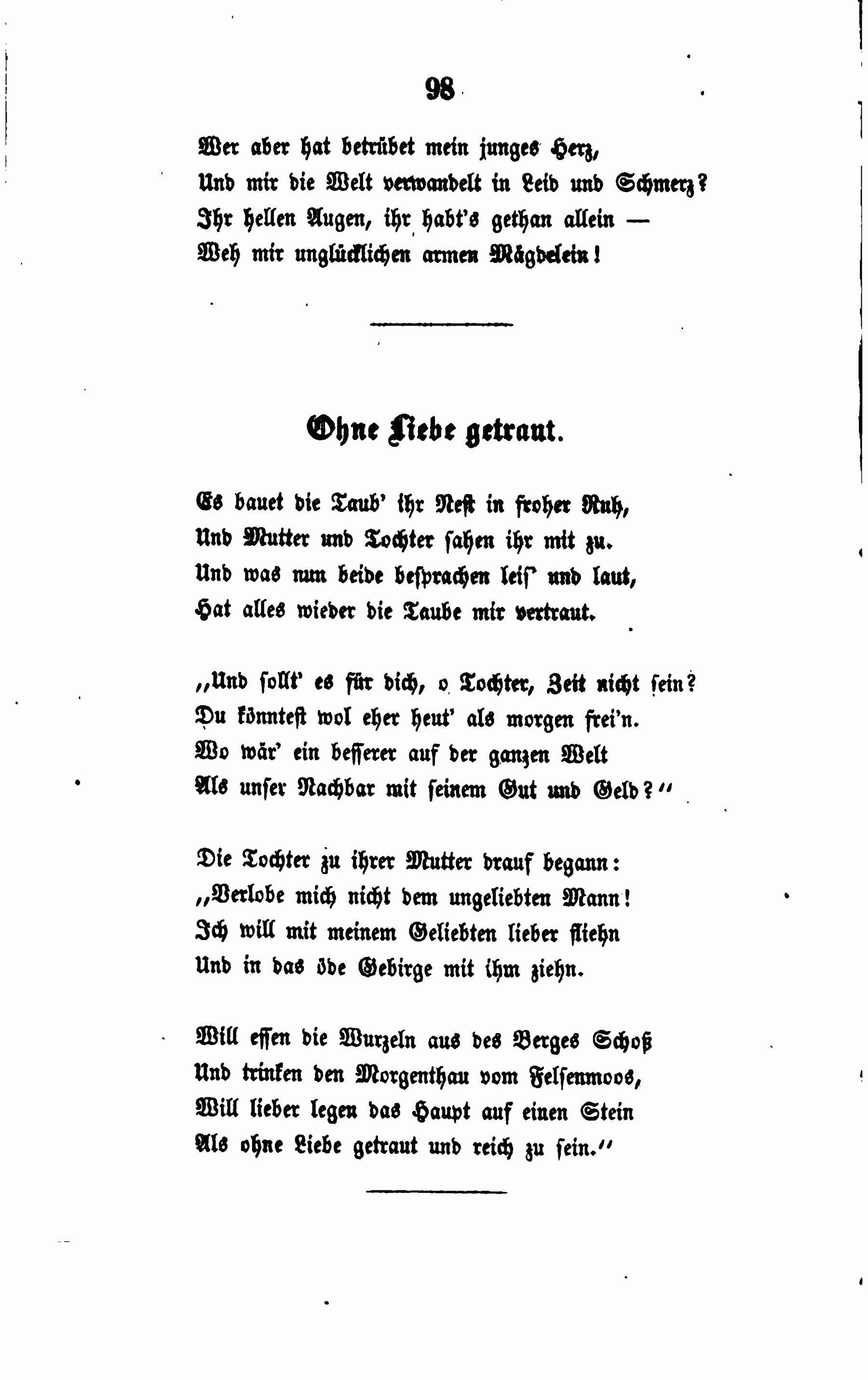 Filede Fallersleben Gedichte 098jpg Wikimedia Commons