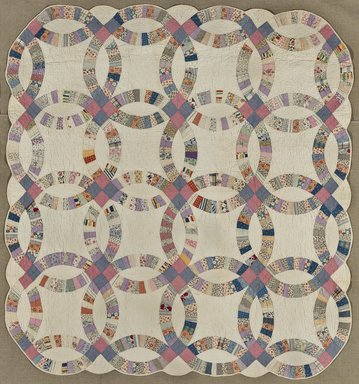 File Double Wedding Ring Quilt Jpg Wikimedia Commons