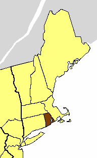 Location of the Diocese of Rhode Island