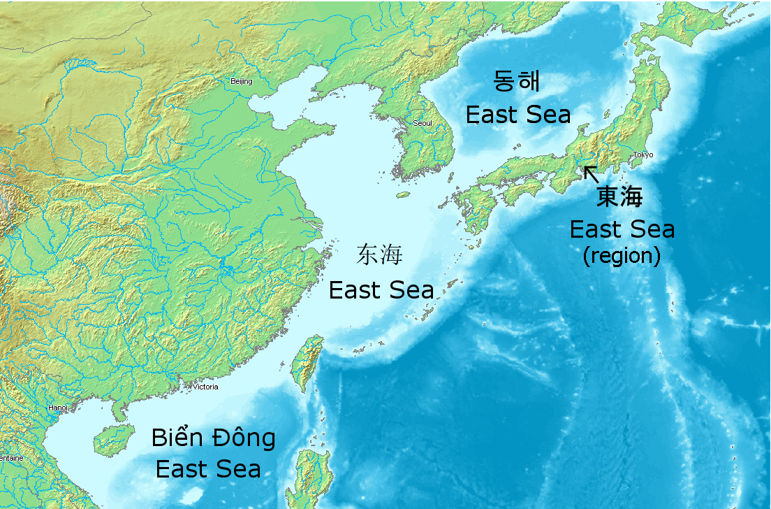 Map Of Asia Seas.File East Seas In East Asia Png Wikimedia Commons