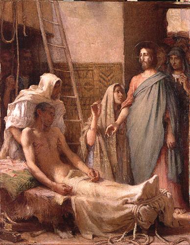 MÉDITATIONS CHRÉTIENNES POUR TOUTE L`ANNÉE - Pere Buse`e - Cie de Jésus - année 1708 Ernest_Laurent_J%C3%A9sus_gu%C3%A9rit_le_paralytique