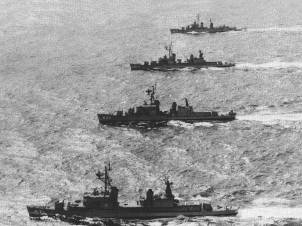 File Four Us Navy Destroyers Underway In The 1960s Jpg
