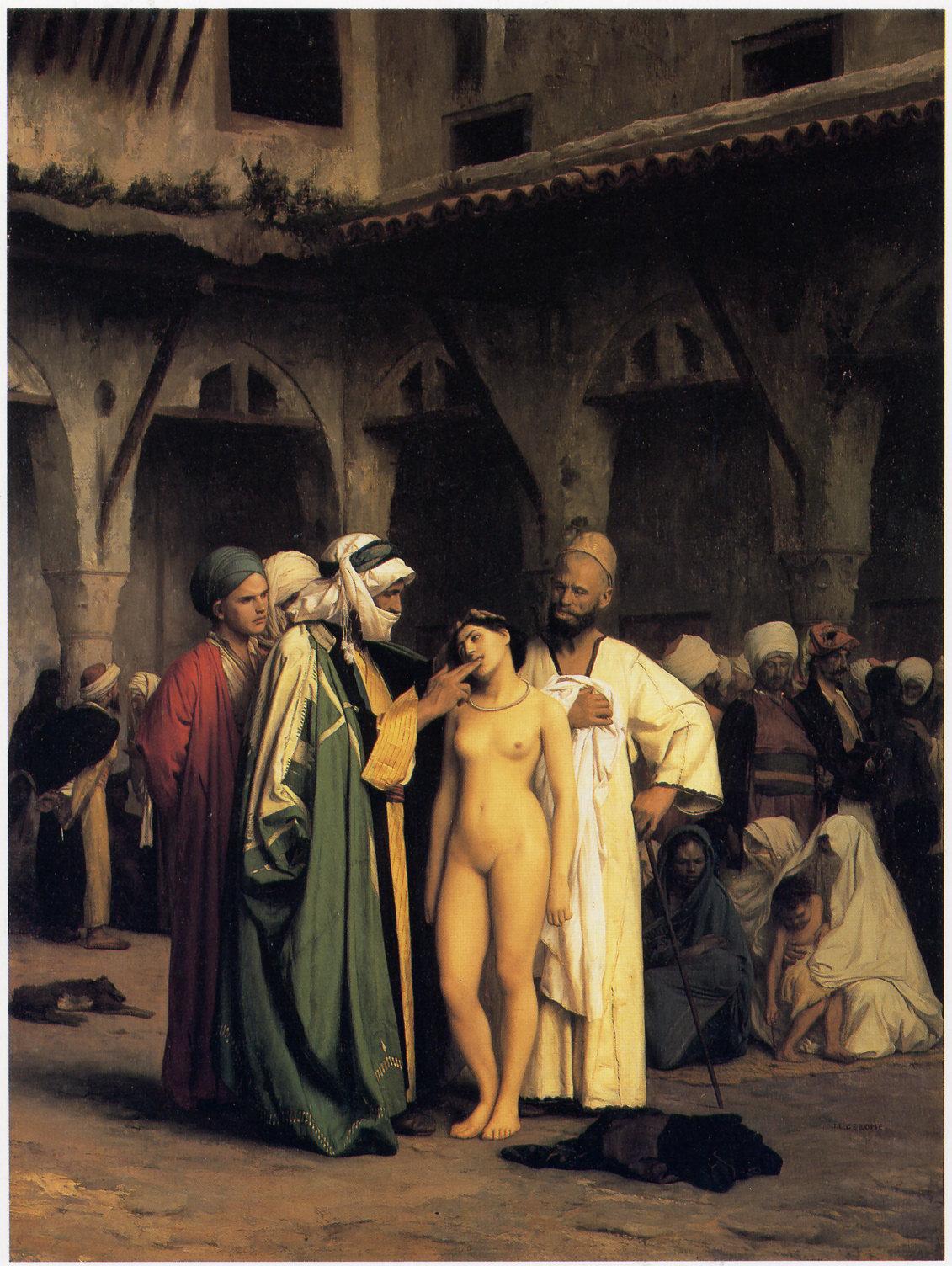 slave trade nude woman The Slave Market ...