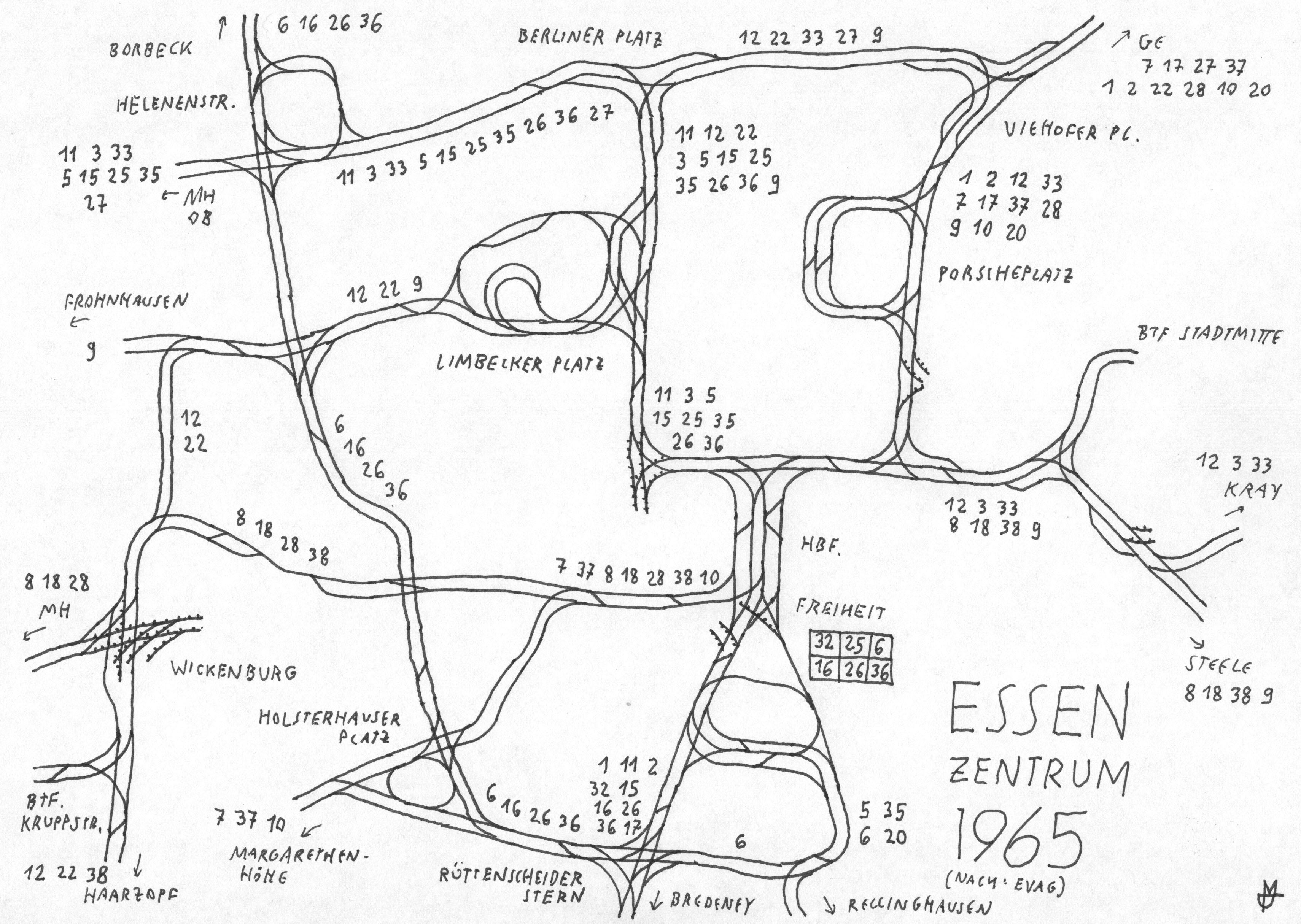 file gleisplan der straà enbahn essen 1965 zentralbereich