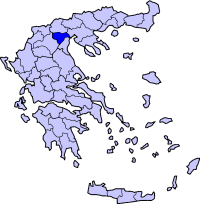 Location of Imathia Prefecture in Greece