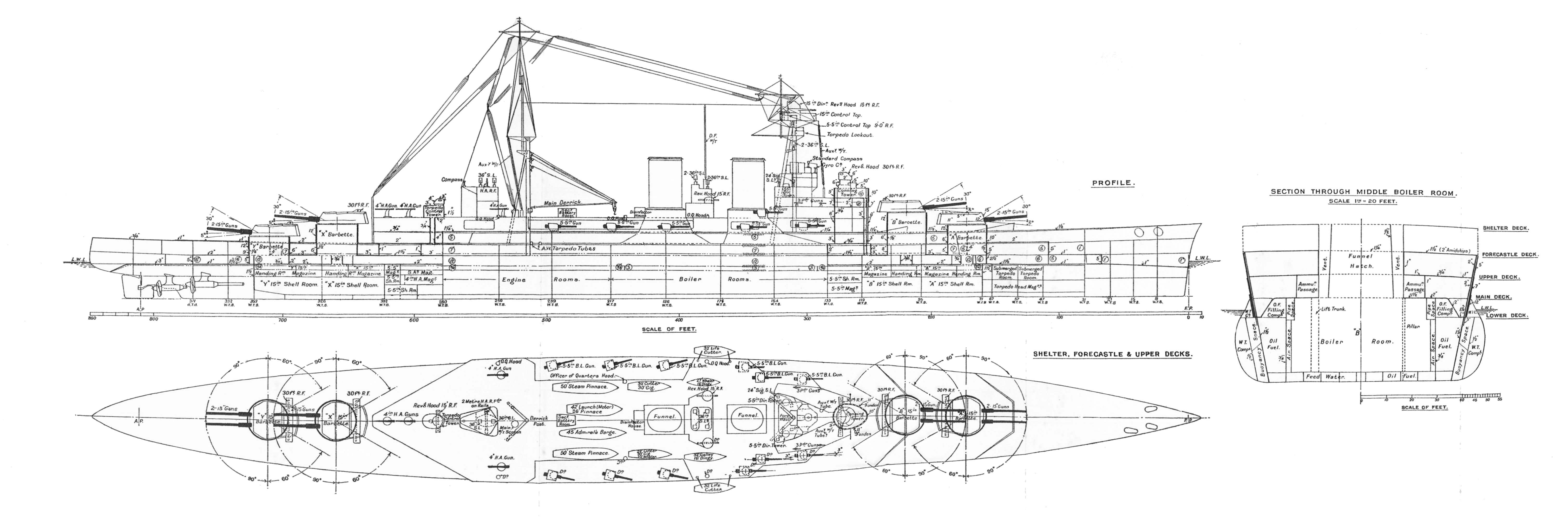 File:HMS Hood, outline and plan (Warships To-day, 1936).jpg - Wikimedia Commons