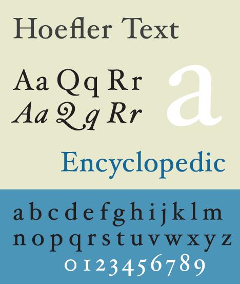 HoeflerText