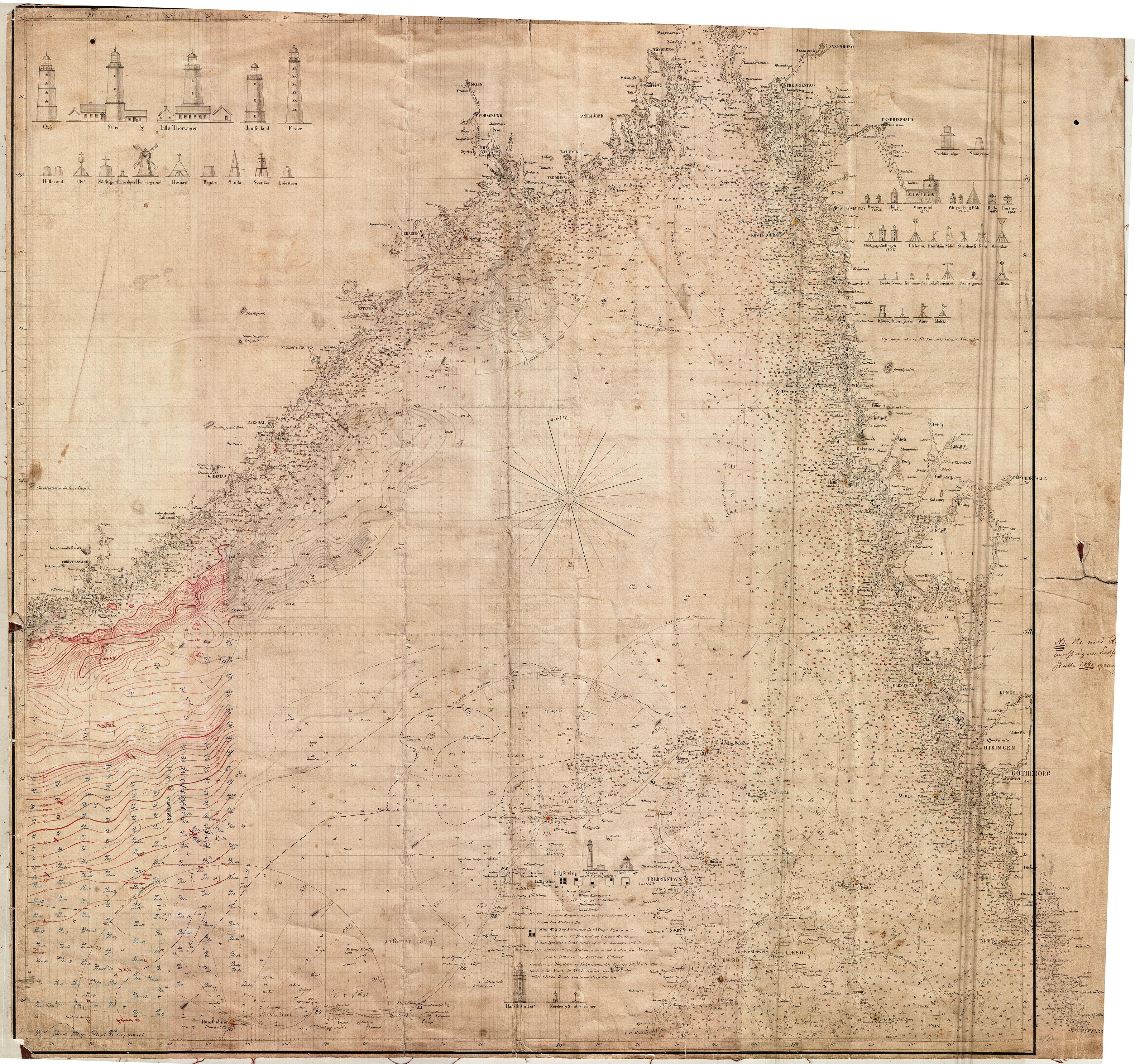 kart til og fra File:Kart over kysten av Norge og Sverige fra Kristiansans til  kart til og fra