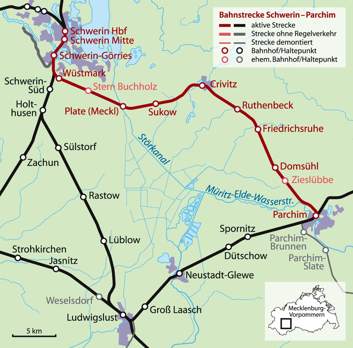 Bahnstrecke Hamburg Schwerin
