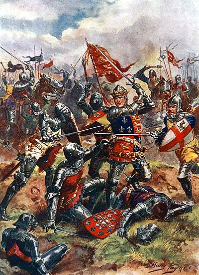 King Henry V at the Battle of Agincourt by Harry Payne, 1915