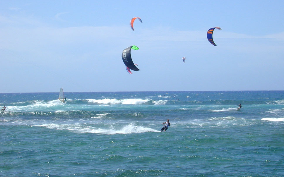 Kitesurfing At The Beach