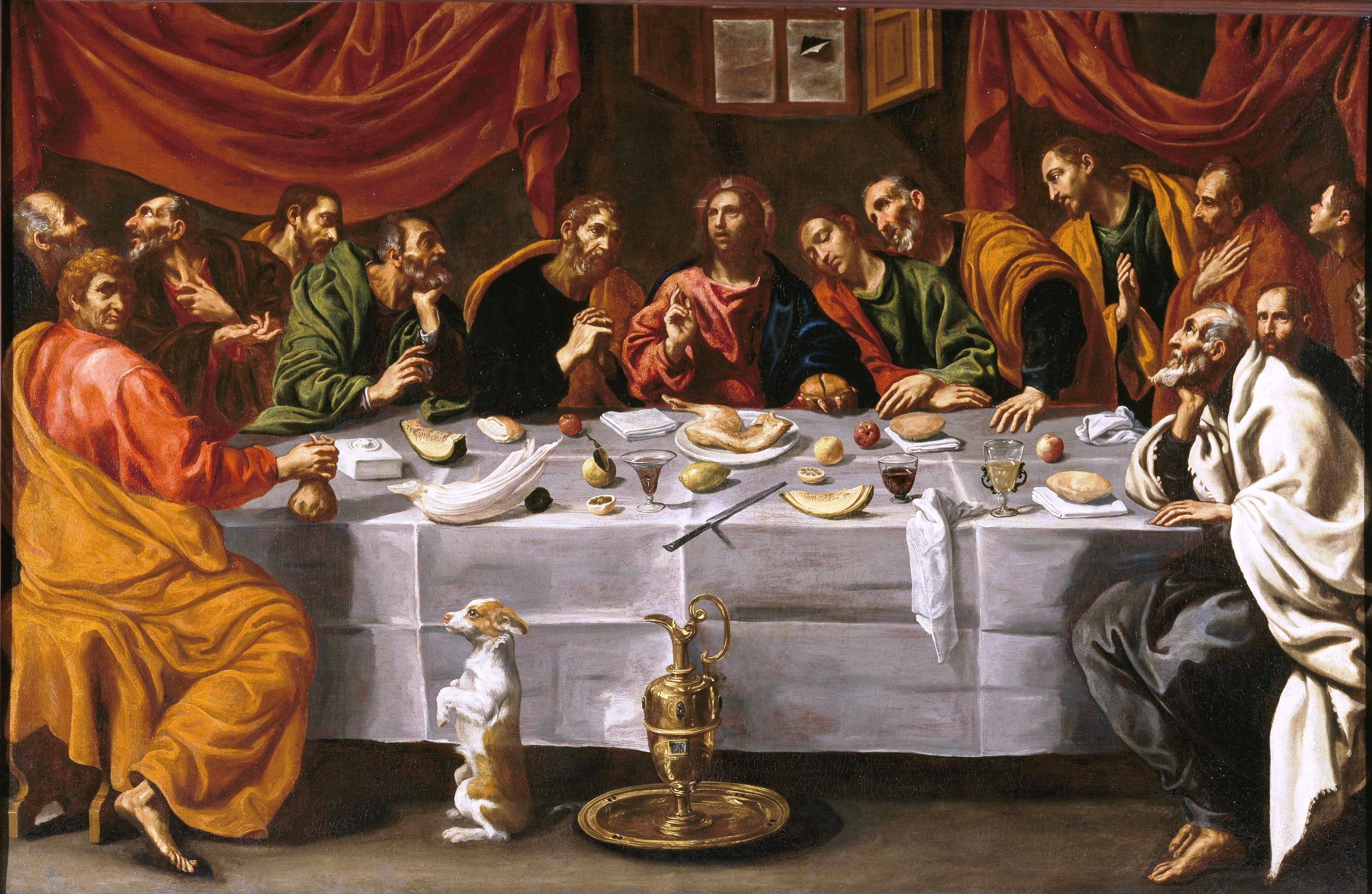 """la ultima cena Después de la cena, los apóstoles empezaron a discutir sobre quién de ellos era el más importante pero jesús les dijo: """"el que sea más importante entre ustedes tiene que comportarse como el más pequeño o menos importante."""