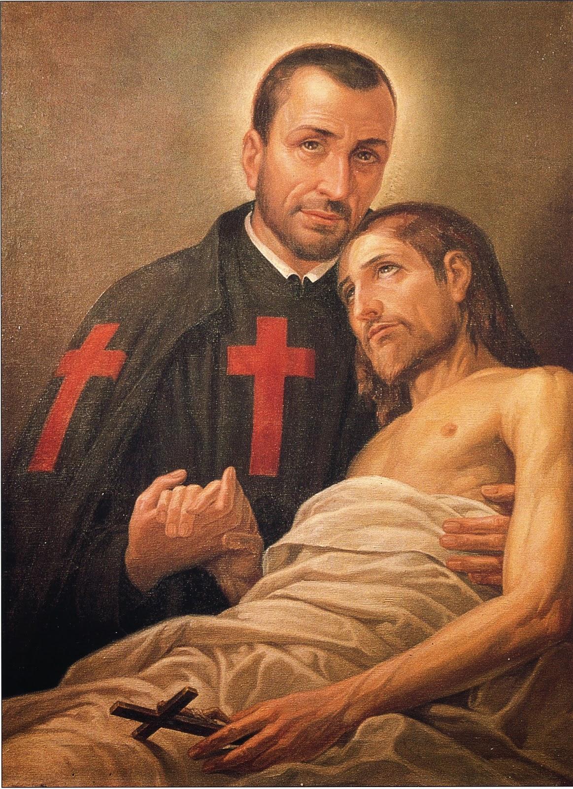 Heiliger Kamillus von Lellis, Schutzpatron der Kranken, Sterbenden, Krankenpfleger und Krankenhäuser
