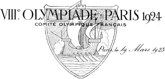 Letterhead VIIIe Olympiade Paris 1924 Comité Olympique Français, Public domain, via Wikimedia Commons