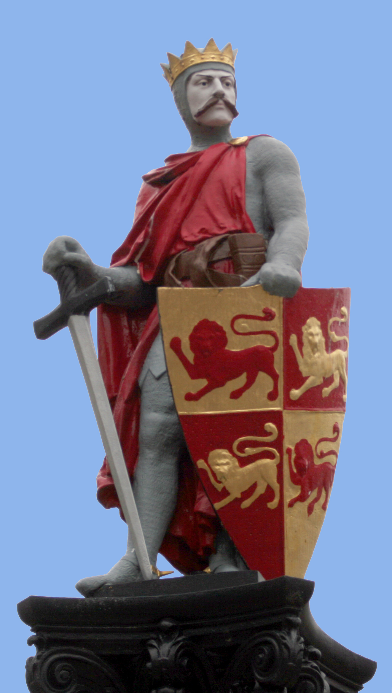 Statue of Llywelyn Fawr at Conwy