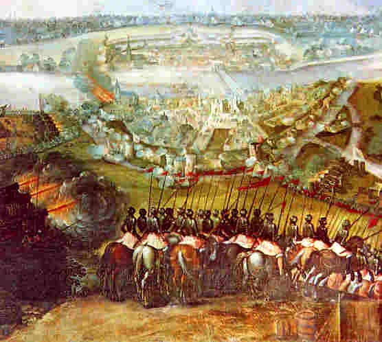Spanish troops storming the city of Maastricht, 1579