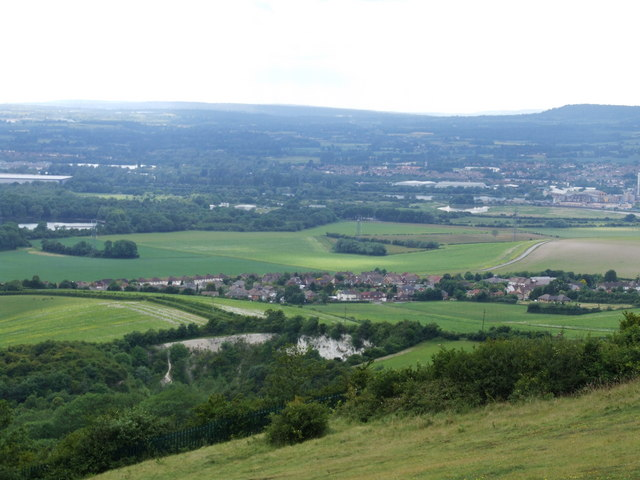 Medway Valley from Blue Bell Hill - geograph.org.uk - 1351257