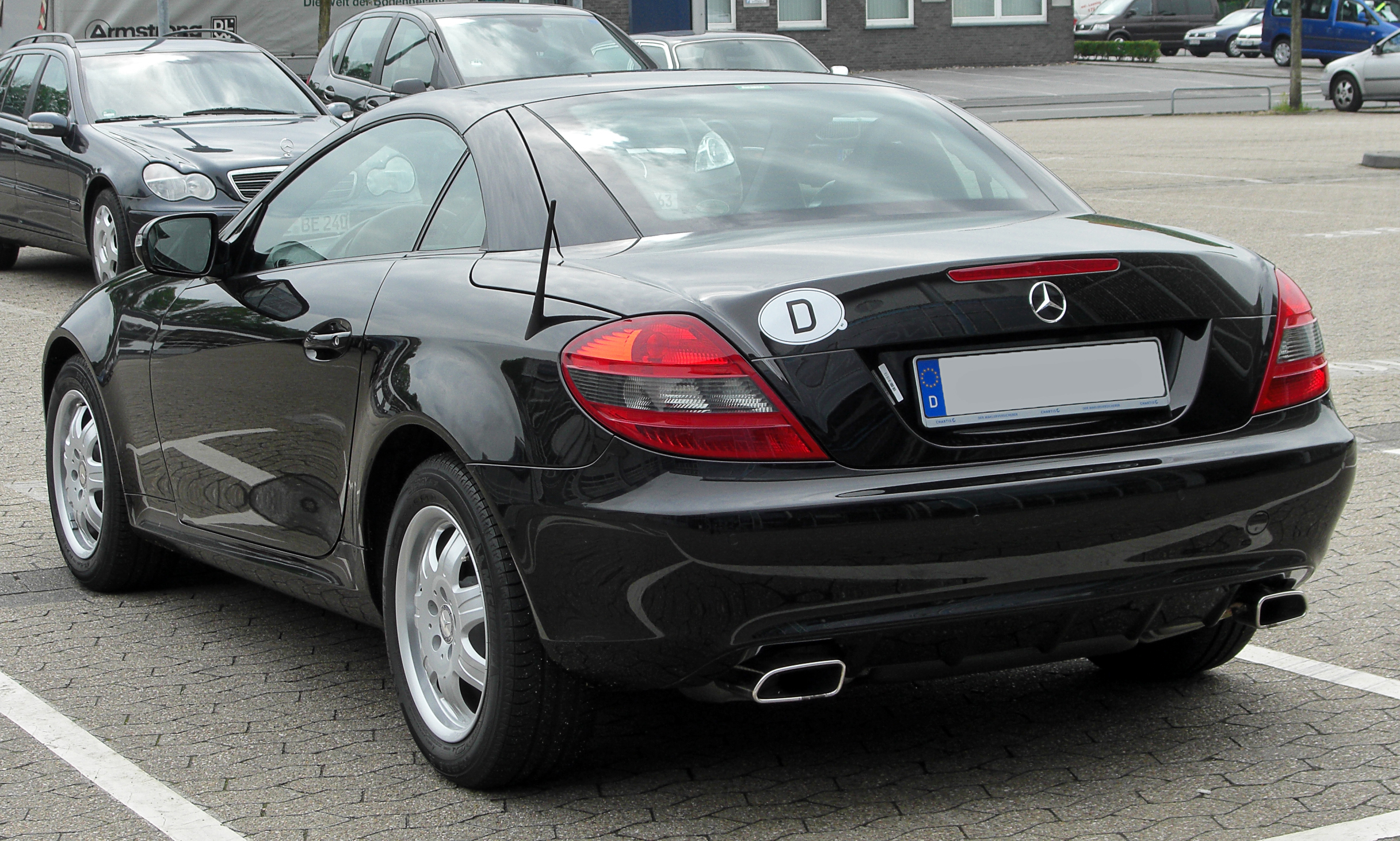 file mercedes slk r171 facelift rear wikimedia commons. Black Bedroom Furniture Sets. Home Design Ideas