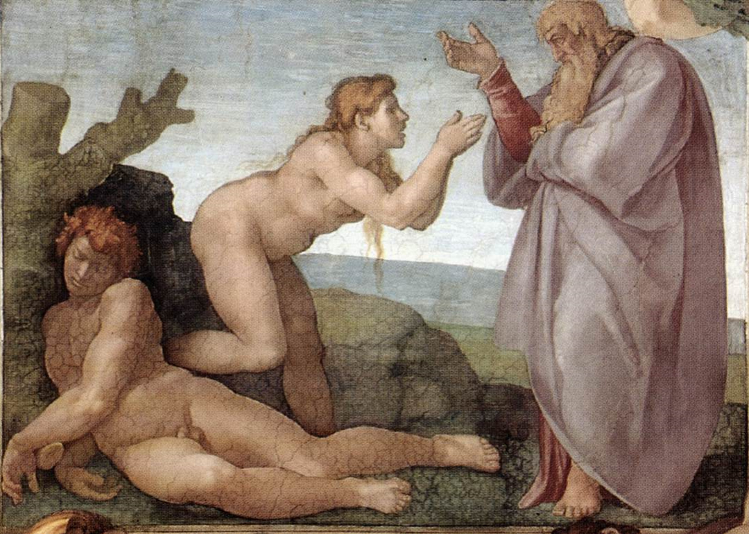 The Creation of Eve, from the Sistine Chapel ceiling by Michelangelo