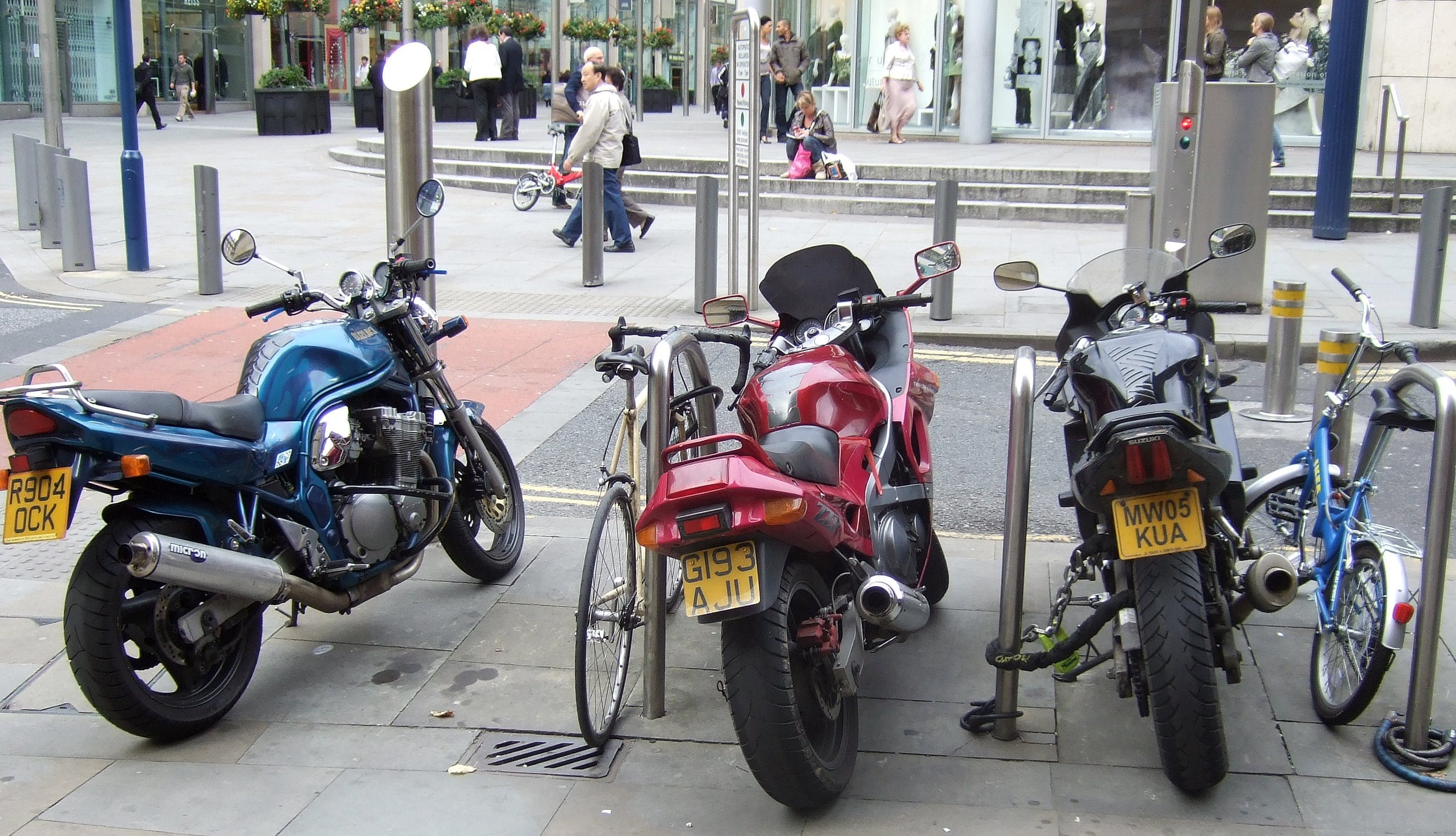 File:Motorcycle parking in Manchester.jpg - Wikimedia Commons