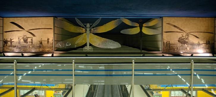 Estaci n de juan de la cierva wikipedia la enciclopedia for Mural metro u de chile