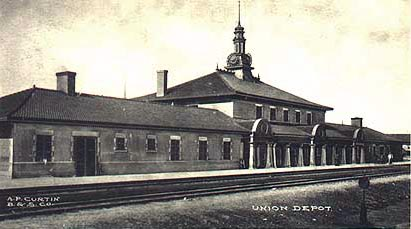 Northern Pacific Railway Depot Overview, Helena, Montana, Circa 1904