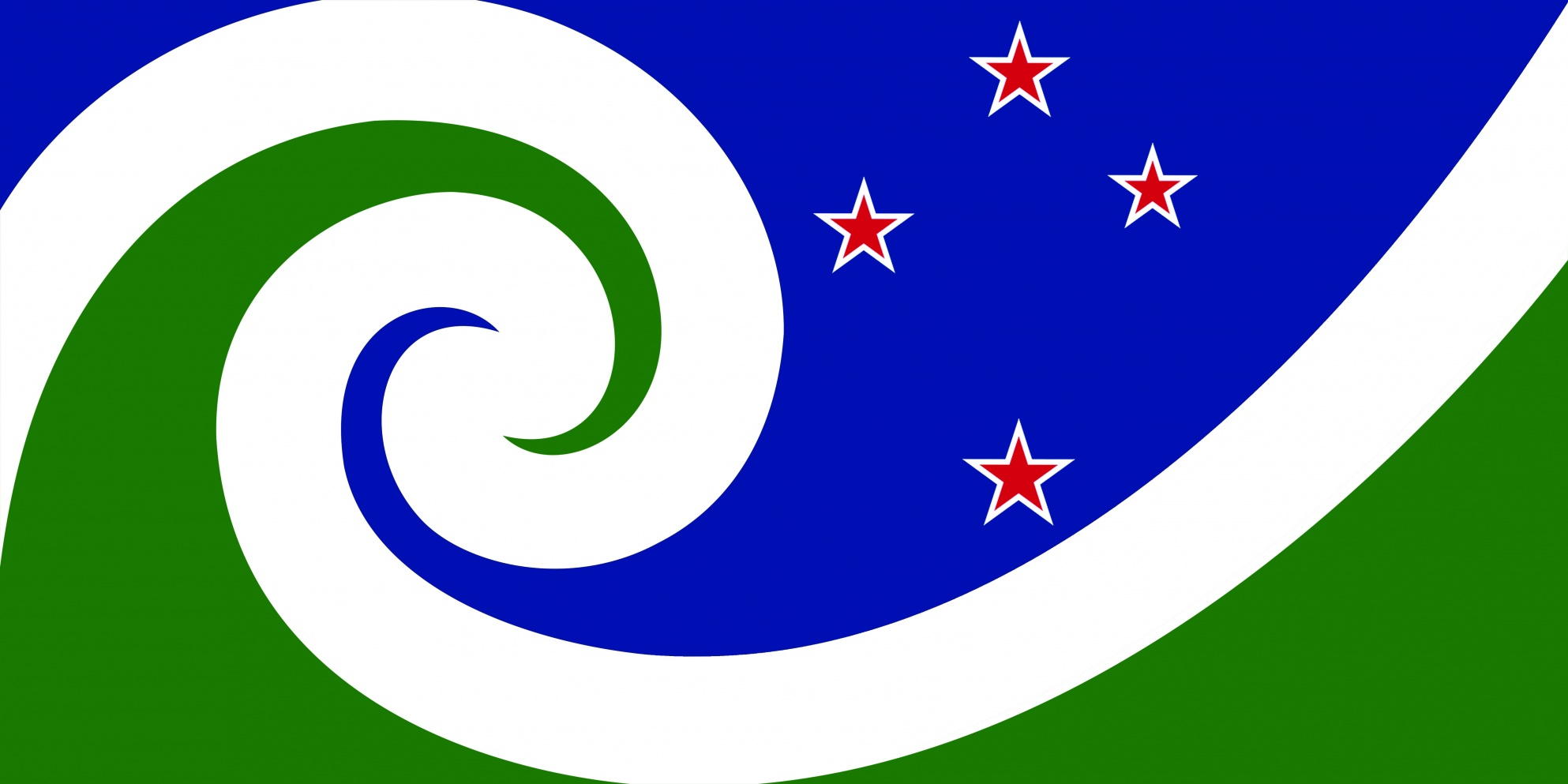 File:NZ flag design Manawa (Blue & Green) by Otis Frizzell