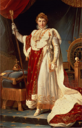 Napoleon in coronation robes by Francois Gerard Napoleon in Coronation Robes.png