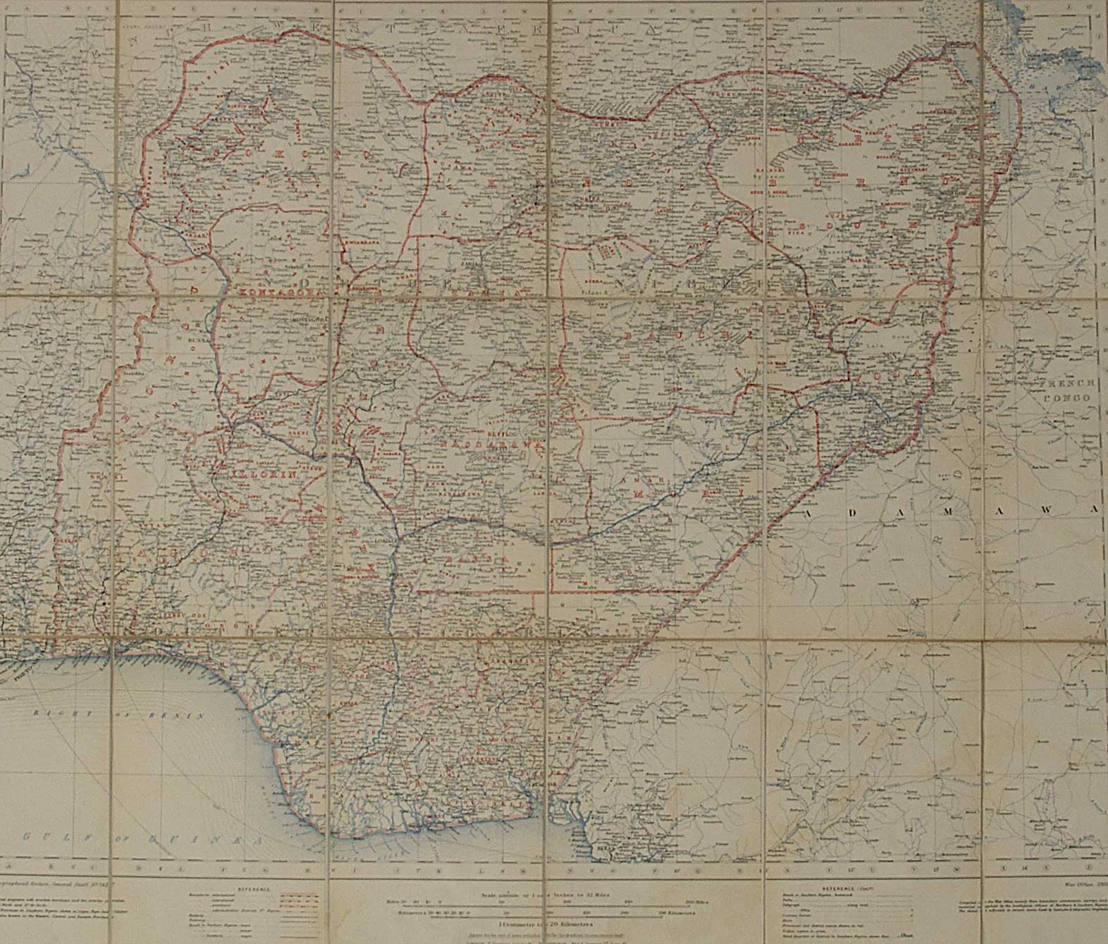 Nigeria Provinces 1910jpg Atlas of Nigeria