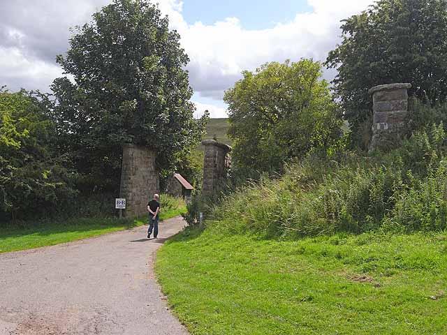 Old bridge piers near Wagtail Farm, Rothbury - geograph.org.uk - 1425902
