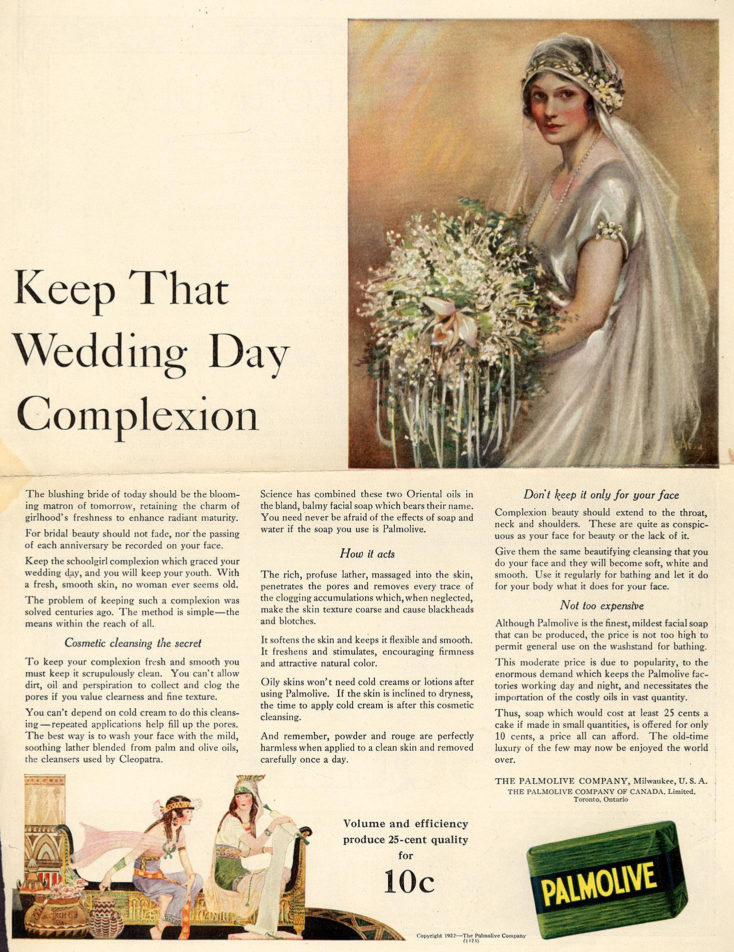 1922magazineadvertisementforolgate-almolivealmoliveoap
