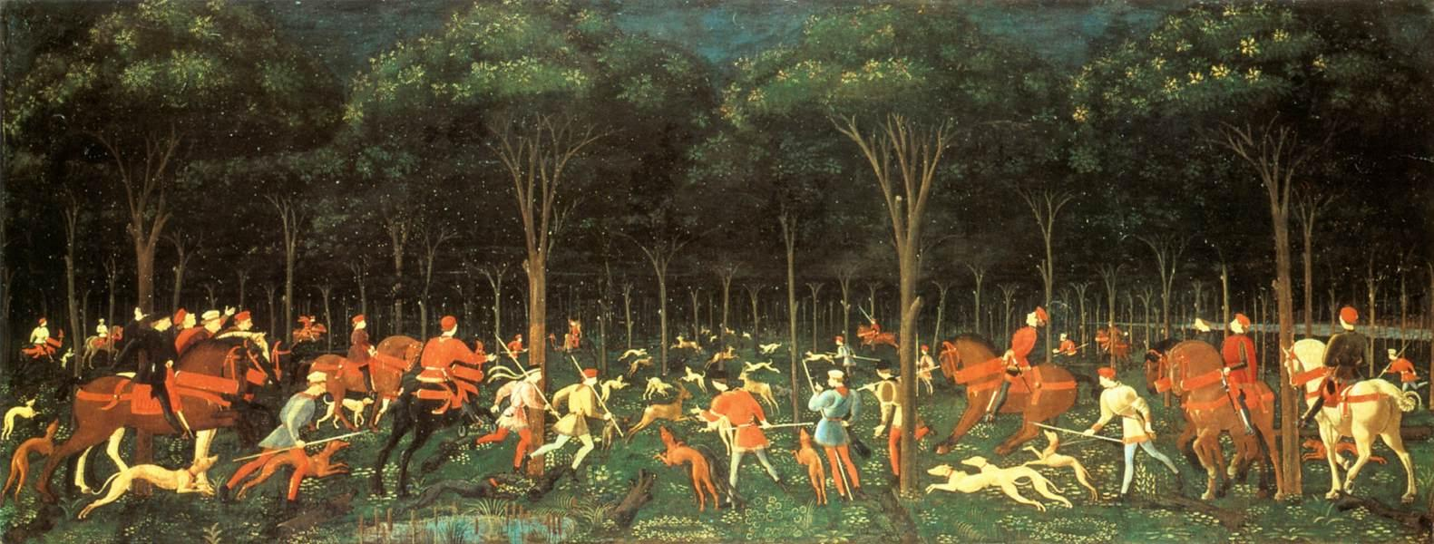 Paolo_Uccello_-_The_Hunt_in_the_Forest_-