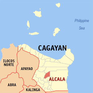 Map of Cagayan showing the location of Alcala