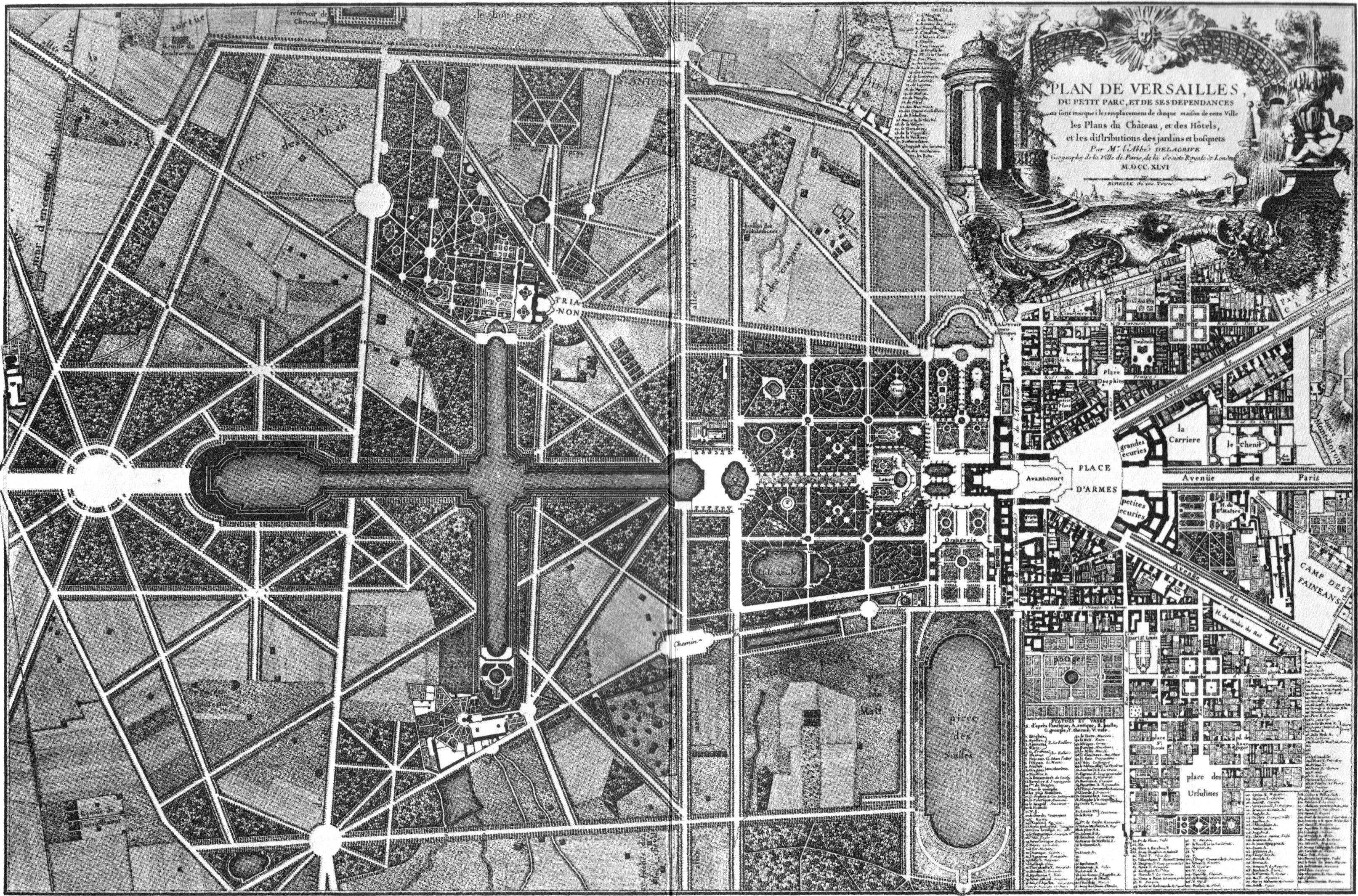 Gardens Of Versailles Plan 8