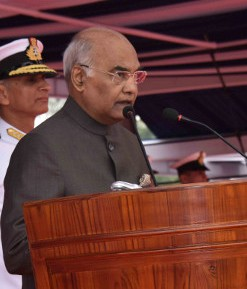 President Ram Nath Kovind awards the President's Colour to the Submarine Arm of Indian Navy (4) (cropped).jpg
