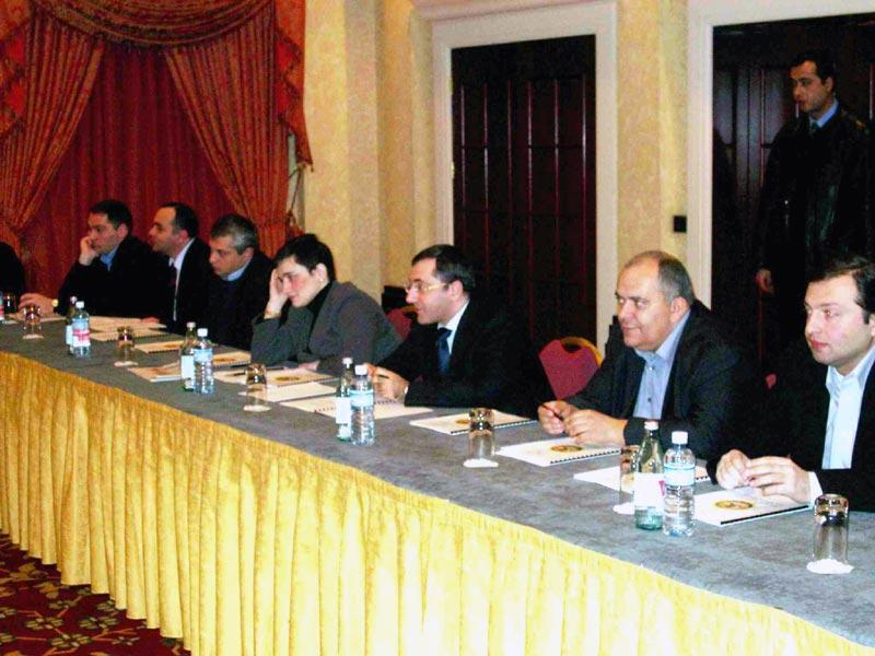 - Prosecutor_General_Zurab_Adeishvili_and_his_first_deputy_Nona_Tsotsoria_attending_the_seminar_held_at_the_Tbilisi_Marriott_Hotel_(January_16,_2006)