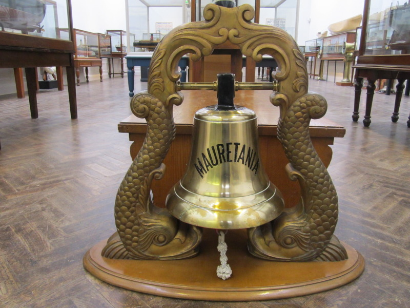 RMS Mauretania ship's bell, Williamson Art Gallery