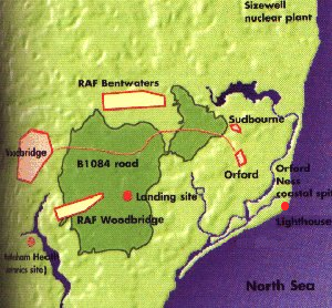 Map of the Rendlesham Incident