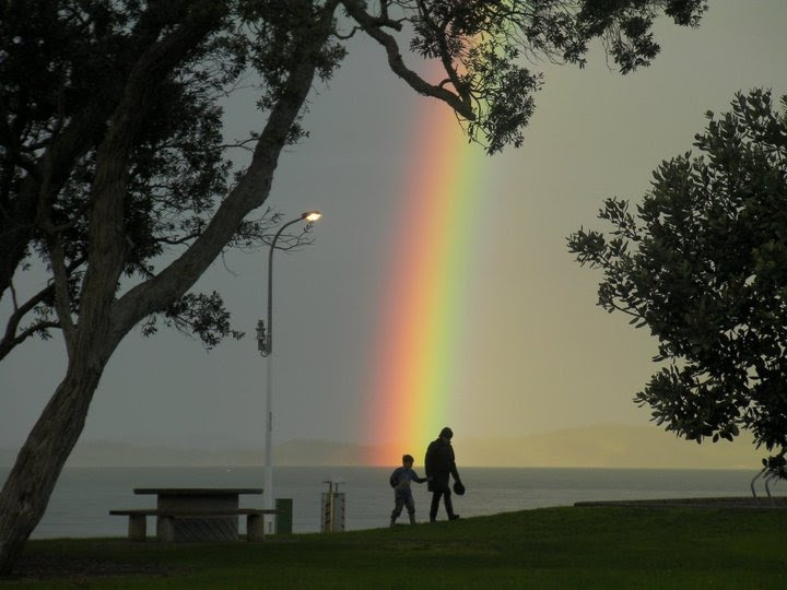 File:Rainbow At Maraetai Beach New Zealand.jpg